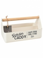 Burgon & Ball Enamel Garden Caddy in Cream