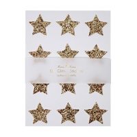 Gold Glitter Star Stickers By Meri Meri