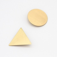 Brushed Gold Geometric Hair Clips Set of 2 By Caroline Gardner