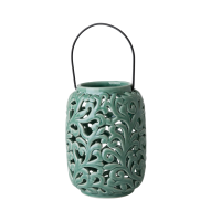 Green Ceramic Lantern By Rice DK