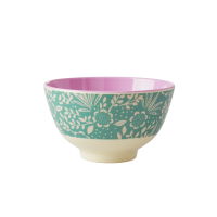 Fern and Flower Print Small Melamine Bowl By Rice DK