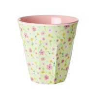 Green Flower Print Melamine Cup By Rice DK