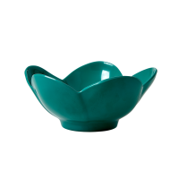 Flower Shaped Melamine Bowls in Dark Green By Rice DK