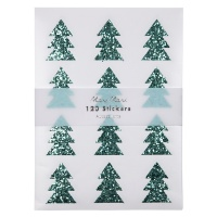 Christmas Tree Glitter Stickers By Meri Meri