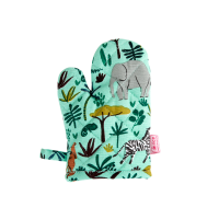 Childs Green Jungle Print Oven Glove By Rice DK