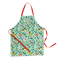 Childs Green Jungle Print Apron By Rice DK
