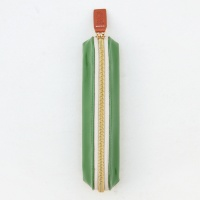 Green Glossy Patent Pencil Case By Caroline Gardner