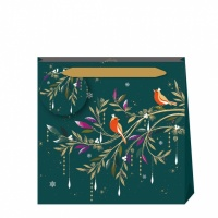 Sara Miller London Robin Teal Background Luxury Gift Bag