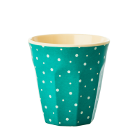 Kids Small Melamine Cup Green Dot Print Rice DK
