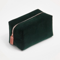 Luxury Green Velvet Cosmetic Bag By Caroline Gardner