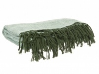 Green Cotton Weave Blanket / Throw by PT Living