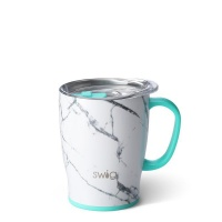 Grey & White Marble Print 18oz Mug By SWIG