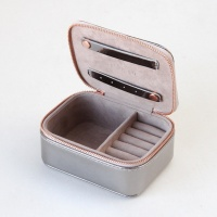 Gunmetal Patent Travel Jewellery Box By Caroline Gardner