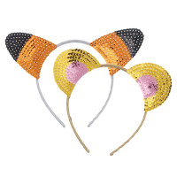 Hairband with Sequined Animal Ears By Rice DK