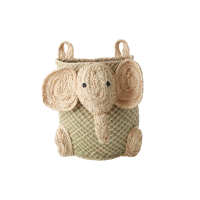 Hanging Seagrass Elephant Shaped Storage Basket Rice DK
