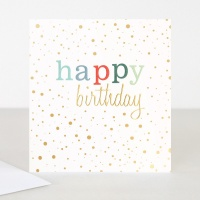 Colourful Happy Birthday Card By Caroline Gardner