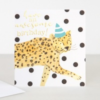 Cheetah Birthday Card By Caroline Gardner