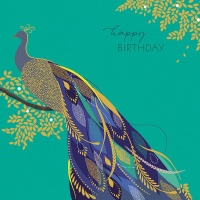 Peacock Happy Birthday Card By Sara Miller London