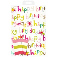 Happy Birthday Wrapping Paper & Tag Set By Caroline Gardner