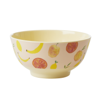 Happy Fruits Print Melamine Bowl By Rice DK