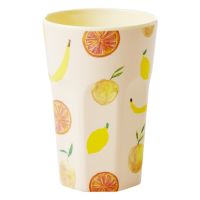 Happy Fruit Print Tall Melamine Cup By Rice DK