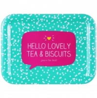 Tea & Biscuit Melamine Tray by Happy Jackson