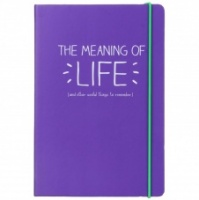 Happy Jackson Purple Notebook ''The Meaning of Life''