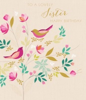 Lovely Sister Birthday Card By Sara Miller London
