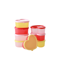 Set of 8 Heart Shaped Snack Boxes Rice DK