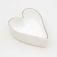 Heart Shaped China Trinket Bowl By Caroline Gardner