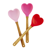 Heart Shaped Silicone Kitchen Spoon By Rice DK