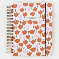 Flowers & Hearts Notebook Organiser By Caroline Gardner