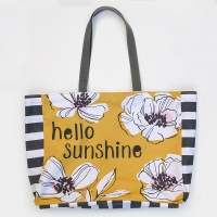Hello Sunshine Cotton Canvas Tote Bag By Caroline Gardner
