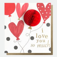 POMPOM I love you so much Card by Caroline Gardner