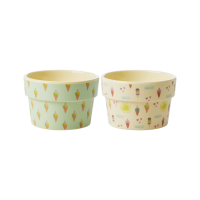 Ice Cream Melamine Pots in Summer & Ice Cream Print Rice DK