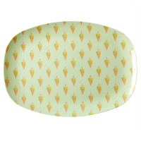 Ice Cream Print Rectangular Melamine Plate Rice DK