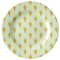 Ice Cream Print Melamine Side Plate Rice DK