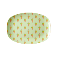 Ice Cream Print Small Rectangular Melamine Plate Rice DK