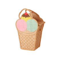 Ice Cream Shape Raffia Bag By Rice DK