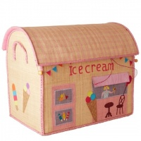 Ice Cream Shop Theme Large Raffia Toy Basket Rice DK