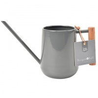 Indoor Watering Can Charcoal Grey Wooden Handle By Burgon & Ball