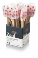 Heart pattern spatula silicone, wooden handle CKS Zeal