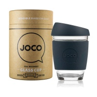 Joco glass reusable coffee cup in Mood Indigo 12oz