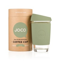 Joco glass reusable coffee cup in Army Green 16oz