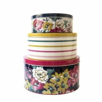 Set of 3 Cake Tins Cambridge Florals & Stripes By Joules