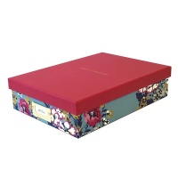 Cambridge Floral Print A4 Storage Box By Joules