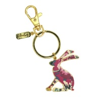 Hare Shaped Enamel Keyring By Joules