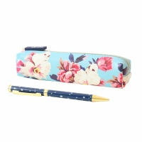 Blue Star Pen & Floral Pencil Case Set By Joules