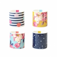Set of 4 Bone China Egg Cups By Joules