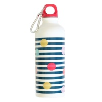 Stripe & Dot Print Aluminium Water Bottle By Joules